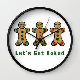 Let's Get Baked Wall Clock