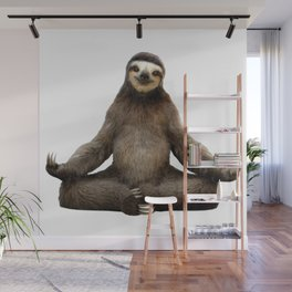 Sloth Yoga Art Print Wall Mural