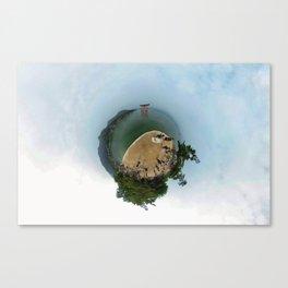 Miyajima island and torii on the water Japan in 360 Canvas Print