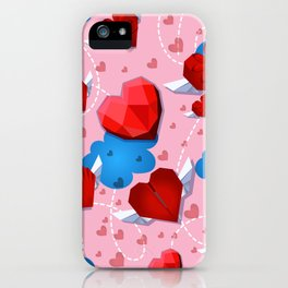 Hearts pattern for textile or wallpaper iPhone Case
