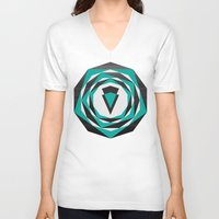 arya V-neck T-shirts featuring Decahedron Hexagon combined! by Hinal Arya