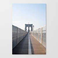 brooklyn Canvas Prints featuring Brooklyn by Ali Inay