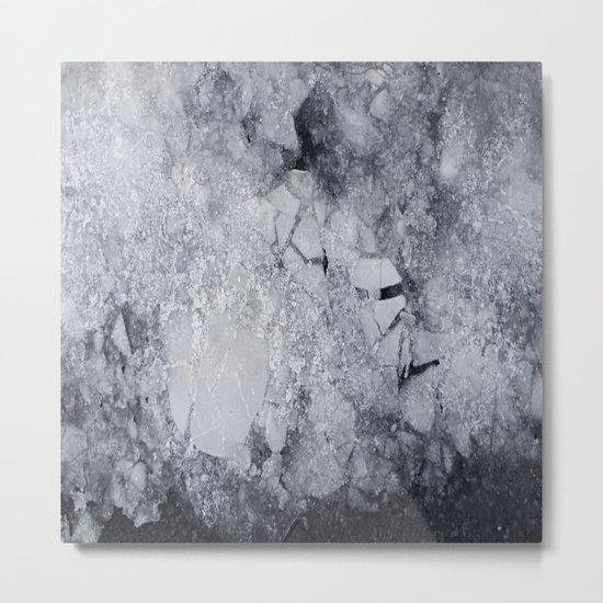 Iced Asphalt Metal Print