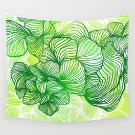 Green Flora Wall Tapestry