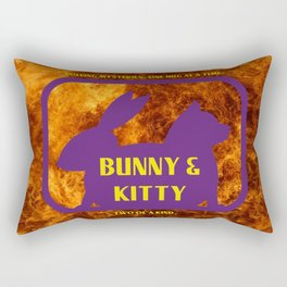 Bunny and Kitty Very Best Friends Rectangular Pillow