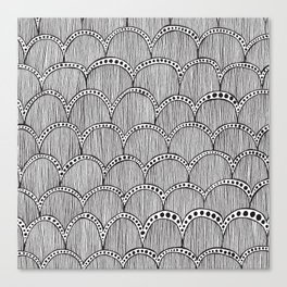Hand Drawn Doodle Pattern Canvas Print