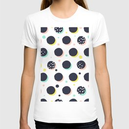 ABSTRACT RANDOW POLKA DOT RETRO INSPIRED PATTERN T-shirt