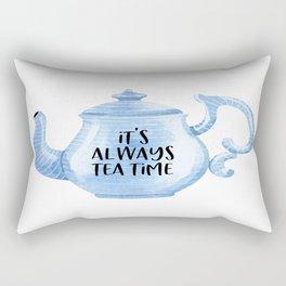 Kitchen Decor, It's Always Tea Time, Time For Tea, Kitchen Wall Decor Rectangular Pillow
