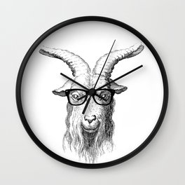 Hipster Goat Wall Clock