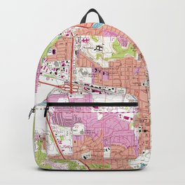 Rochester Michigan Map (1972) Backpack