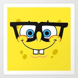 Spongebob Nerd Face Art Print