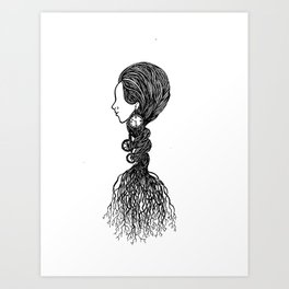 Rooted in an illusion Art Print