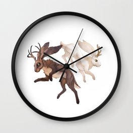 Ying Yang Jackalope Wall Clock
