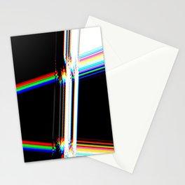 rainbow crack Stationery Cards