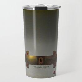 Treasure Island Minimal Poster Travel Mug