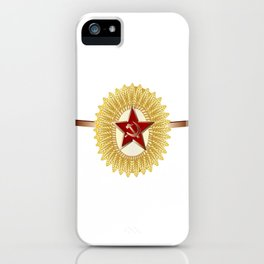 Soviet Officer Cap Badge iPhone Case