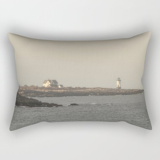 Hazy Straitsmouth lighthouse Rectangular Pillow