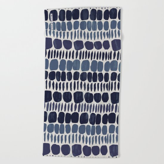 Painted Stones-Indigo Beach Towel