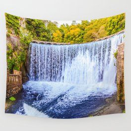Monk's waterfall Wall Tapestry