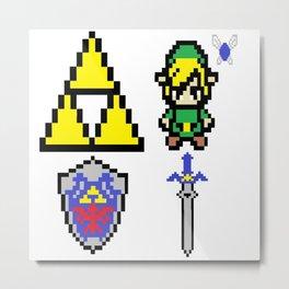 Legend of Zelda Pixel Metal Print