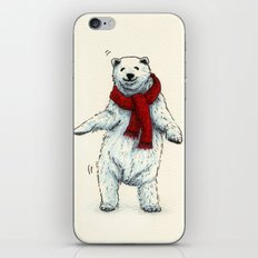 The polar bears wish you a Merry Christmas iPhone & iPod Skin