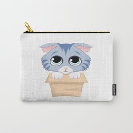 Cute Kitty in a Box Carry-All Pouch