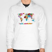 map Hoodies featuring map by ron ashkenazi