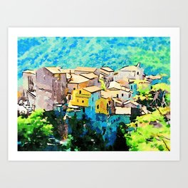 Tortora view Art Print
