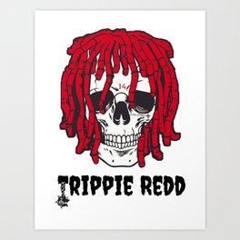 Trippie redd rapper skeleton Art Print