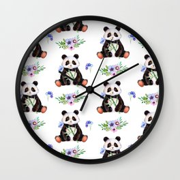 Garden Panda Wall Clock