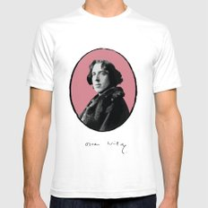Authors - Oscar Wilde White SMALL Mens Fitted Tee