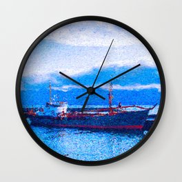 Blue Harbor Wall Clock