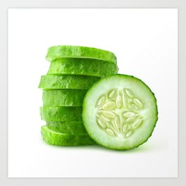 Sliced cucumber Art Print