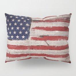 Wood American flag Pillow Sham