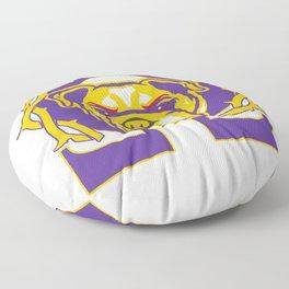 Men's Omega Que Dawg  Psi Phi Purple Gold Fraternity Floor Pillow