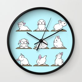 Bunnies Yoga Wall Clock
