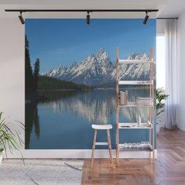 Jackson Lake and Grand Teton Refection Wall Mural