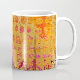 Gold and Orange Dot Abstract Art Collage Coffee Mug