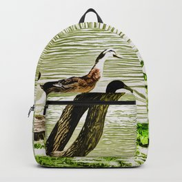 Duck Pond in Watercolour Backpack