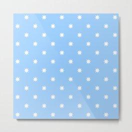 stars 55- blue Metal Print