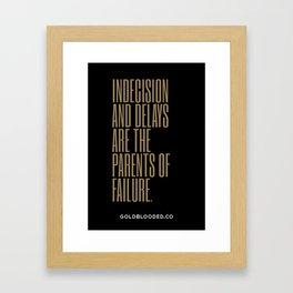 Indecision Framed Art Print