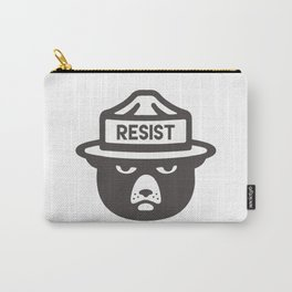 Bear Hat is Resist Carry-All Pouch