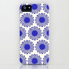 vintage flowers blue  Slim Case iPhone (5, 5s)
