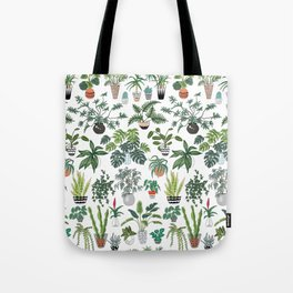 plants and pots pattern Tote Bag