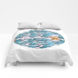 sardine run (blue) Comforters