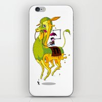 lama iPhone & iPod Skins featuring Lama by ART OF SOOL