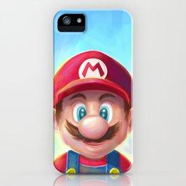 Mario Portrait iPhone Case
