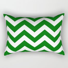 Emerald green - green color - Zigzag Chevron Pattern Rectangular Pillow