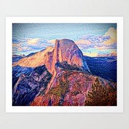 Half Dome Horizon Art Print