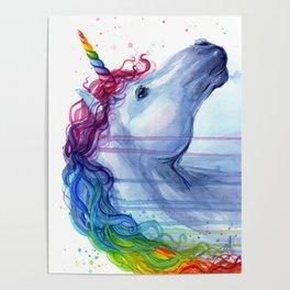 Magical Rainbow Unicorn Poster